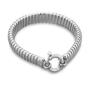 Women's Sterling Silver Designer Tubogas  Bracelet