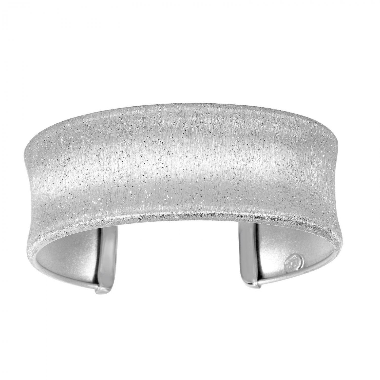 Stardust Sterling Silver Concave Cuff Bracelet