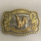 3D Lace Gold Chicken Mens Belt Buckle With 138*95mm 130.6g Metal Belt Head Fit 4cm Wide Belt