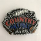 Country Music Cowboy Belt Buckles With 95*68mm Metal Man Woman Buckle Fit 4cm Wideth Belt