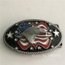 Good Quality Oval Silver Eagle Men Belt Buckles Metal Mens Jeans Buckle Fit 4cm Wide Belt