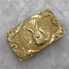 3D Rabbit Solid Brass Men Belt Buckle With 80*48mm 150g Metal Cowboy Leather Belt Head
