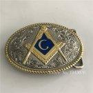 Western Oval Cool Mason Cowboy Belt Buckle Metal Mens Jeans Buckle Fit 4cm Wide Belt