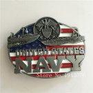 United States NAVY Cowboy Belt Buckle 9*7cm Metal Mens Jeans Buckle Fit 4cm Wide Belt