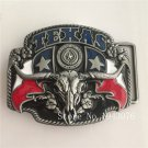 3D TEXAS Bull Head Cowboy Belt Buckle Metal Mens Jeans Buckle Fit 4cm Wide Belt