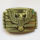 3D Bronze Eagle Cowboy Belt Buckle Metal Men Western Leather Belt Head
