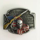 3D American Flag Gun Skull Cowboy Belt Buckle Metal Mens Jeans Buckle Fit 4cm Wide Belt