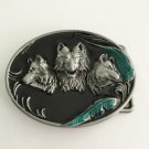 3D Wolf Head Belt 9x7cm Cowboy Belt Buckle Metal Men Western Leather Belt Head