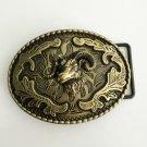 Oval Bronze 3D Sheep Head 98*78mm Cowboy Belt Buckle Metal Men Western Leather Belt Head