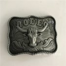 3D Silver Bull Head 10*8cm 92.4g Cowboy Belt Buckle Metal Mens Jeans Buckle Fit 4cm Wide Belt