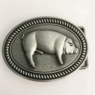 Oval Silver Male Pig Cowboy Belt Buckle Metal Men Western Leather Belt Head