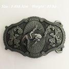 Vintage Silver Western Cowboy Belt Buckle Metal Mens Jeans Buckle Fit 4cm Wide Belt