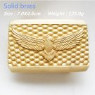 Solid Brass Cool 3D Eagle 125g Cowboy Belt Buckle Metal Men Western Leather Belt Head