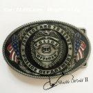 Oval Police Officer Cowboy Belt Buckle Metal Men Western Leather Belt Head