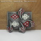 Playing Card Cowboy Metal Belt Buckle Mens Jeans Buckle Fit For 4cm Wide Belt