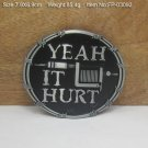 Yeah It Hurt Cowboy Metal Belt Buckle Mens Jeans Buckle Fit For 4cm Wide Belt