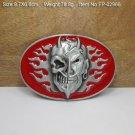 Wild Beast Skull Cowboy Belt Buckle Men Western Leather Belt Metal Head Buckles