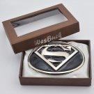 Superman Western Cowboy Men's Metal Belt Buckles With Box