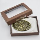 Bronze Knot Pattern Cowboy Cowgirl Western Metal Belt Buckles For Men With Box