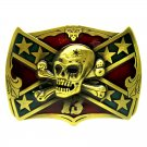 Lucky 13 Skull The Stars And Stripes Belt Buckle