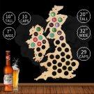 1 Piece United Kingdom Beer Cap Maps Handmade Wall Mounted Decorative Map Home Decor