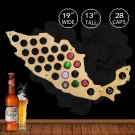 1 Piece Beer Cap Maps Of Mexico Wall Mounted Decorative Maps Beer Caps Collection Gadgets