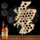 1 Piece Scotland Beer Cap Map Beer Cap Holder Cap Collection Beer Cap Wall Decor