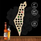 1 Piece Israel Beer Cap Map Bottle Cap Map Unique Design Art Beer Cap Map Gift Wall Decoration