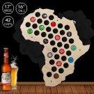 1 Piece Africa Beer Cap Map Wooden Craft Beer Cap Display Art Wood Craft Novelty Gifts