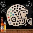 1 Piece Football Helmet Beer Cap Map Design Beer Cap Holder Novelty Beer Cap