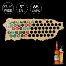 1 Piece Beer Cap Map Of Puerto Rico Wooden Map Display Board Wood Craft For Cap Collector
