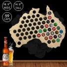 1 Piece Australia Beer Cap Map Laser Engraved Hanging Wooden Map Creative Wall Decor