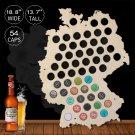 1 Piece Hanging Wooden Germany Map Beer Bottle Beer Cap Maps Cap Collector Gadgets Decor
