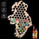 1 Piece Beer Bottle Caps Map of Ireland Wooden Beer Cap Maps Board Wall Art For Cap Collector