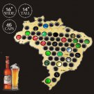 1 Piece Beer Bottle Caps Map of Brazil Board Wall Art For Cap Collector Beer Drinker
