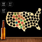 1 Piece Beer Bottle Caps Map of USA Display Board Wall Art Decor Unique Gift For Cap Collectors