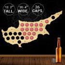 1 Piece Cyprus Beer Cap Maps Handmade Wooden Craft Beer Bottle Caps Collection