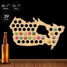 1 Piece Canada Beer Cap Map Display Holder Patriotic Canada Map Pub Bar Wall Mounted Sign