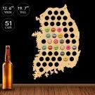 1 Piece Map Of Korea Beer Bottle Cap Display Holder Republic Of Korea Beer Cap Map