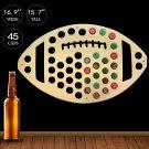 1 Piece Football Beer Bottle Cap Map Collection Wall Art Beer Cap Map Wooden Craft Gift
