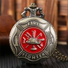 Fire Fighter Control Necklace Gifts For Fireman Watch Fahion Cool Pocket Watches