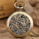 Beautiful Magpie Watches Necklace for Women Flower Case Fine Quartz Pocket Watch
