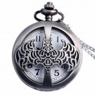 Bronze Hollow Batman Pocket Watch Necklace Vintage Quartz Watch Gift for Boys Girls