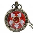 Russia Soviet Sickle Hammer Antique Quartz Necklace Hammer With Sickle Pocket Watch