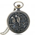 Lovely Bird Hollow Quartz Pocket Watch Vintage Beautiful Necklace Pendant Fob Watches