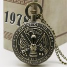 United States Deparment of the Army Theme Pocket Watches Retro Quartz Watch Men
