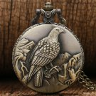 New Antique Big Size Eagle Pocket Watch Retro Bronze Watches Necklace Pendant Gift
