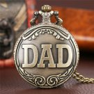 Father DAD Quartz Pocket Watch Necklace Clock For Mens Father's Day Wathces