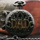 Luxury Skeleton DAD Pocket Watch Mechanical Retro Watches Gift For Father