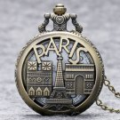 France Paris Souvenir Eiffel Tower Triumphal Arch Mens Womens Gifts Pocket Quartz Watch